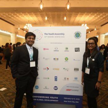 Manideep Tummalapudi with another attendee