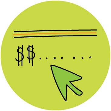 money signs and mouse illustration