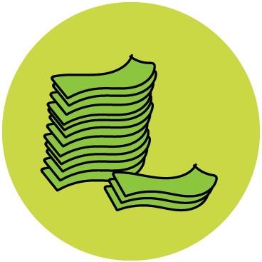 money pile illustration