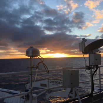 sunset and equipment