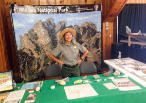 Arianna at a National Park booth